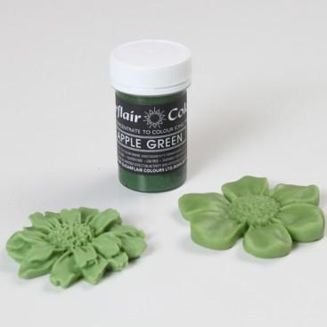 Sugarflair žalia (apple green) spalvos koncentruoti geliniai dažai - 25g.