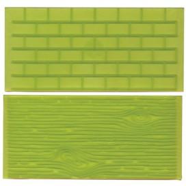 FMM Impression Mats 1 brick wall/tree bark