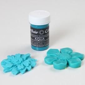 Sugarflair žydros vandenyno (aqua) spalvos geliniai dažai - 25g.