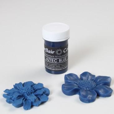 Sugarflair mėlyna (aztec blue) spalvos koncentruoti geliniai dažai - 25g.
