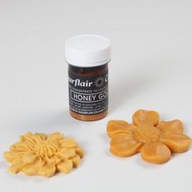 Sugarflair auksinio medaus (honey gold) spalvos geliniai dažai - 25g.