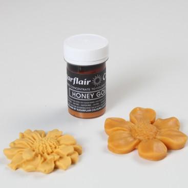 Sugarflair auksinė medaus (honey gold) spalvos koncentruoti geliniai dažai - 25g.