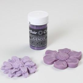 Sugarflair violetinės levandų spalvos geliniai dažai - 25g.