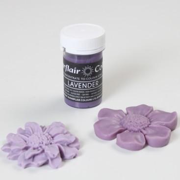 Sugarflair violetinės levandų spalvos koncentruoti geliniai dažai - 25g.