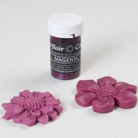Sugarflair purpurinės (magenta) spalvos geliniai dažai - 25g.