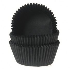 House of Marie black baking cups - 50pcs.