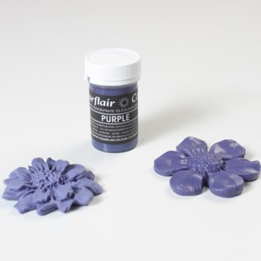 Sugarflair purpurinės spalvos koncentruoti geliniai dažai - 25g.