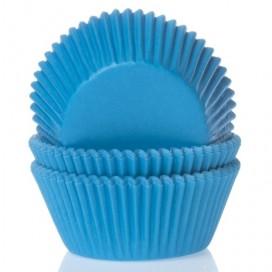 House of Marie mėlyni (Cyan blue) keksiukų popierėliai - 50vnt.