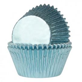 House of Marie mėlyni (Foil Baby Blue) keksiukų popierėliai - 24vnt.