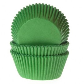 House of Marie gingham lime green baking cups - 50pcs.
