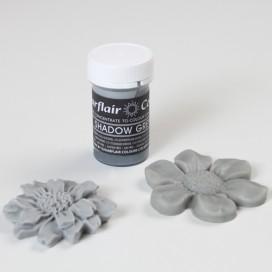 Sugarflair pilkos (shadow grey) spalvos geliniai dažai - 25g.