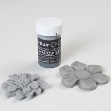 Sugarflair pilkos (shadow grey) spalvos koncentruoti geliniai dažai - 25g.