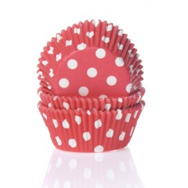 House of Marie polkadot red baking cups - 50pcs.