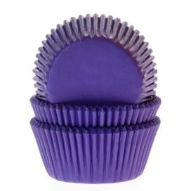 House of Marie violetiniai (purple/violet) keksiukų popierėliai - 50vnt.