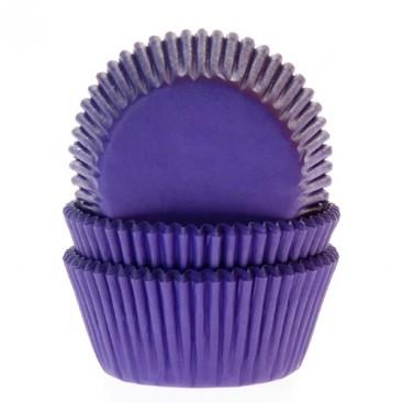 House of Marie violetiniai (polkadot purple butterfly) keksiukų popierėliai - 50vnt.