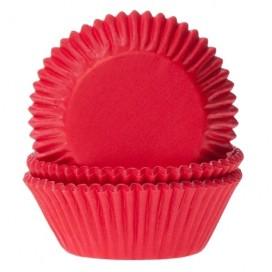 House of Marie raudoni (red velvet) keksiukų popierėliai - 50vnt.