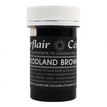 Sugarflair rudos (woodland brown) spalvos koncentruoti geliniai dažai - 25g.