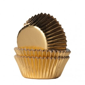 House of Marie foil gold mini baking cups with - 36pcs.