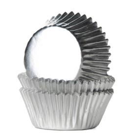 House of Marie sidabriniai (foil silver) keksiukų popierėliai - 36vnt.