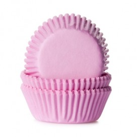 House of Marie gingham pink mini baking cups with - 60pcs.