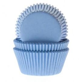 House of Marie mėlyni (gingham blue) keksiukų popierėliai - 60vnt.