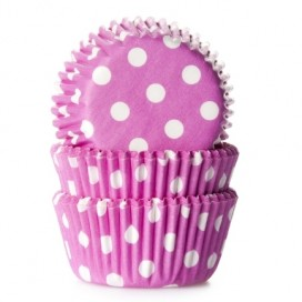 House of Marie polkadot pink mini baking cups with - 60pcs.