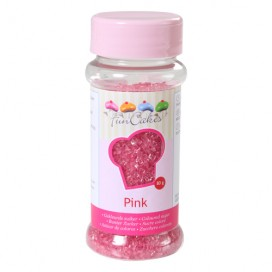 FunCakes rožinės spalvos cukrus - 80g