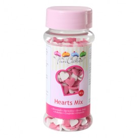 FunCakes Hearts Pink-White - 60g
