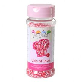 FunCakes rožiniai-balti smulkūs pabarstukai - 80g