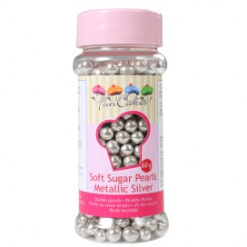 FunCakes metallic silver soft pearls - 60g