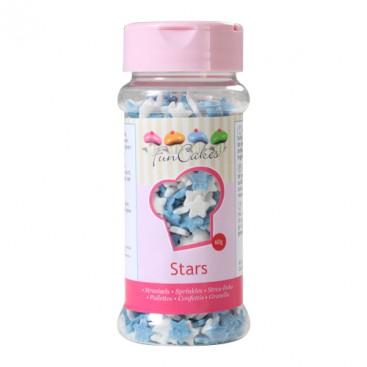 FunCakes balti ir mėlyni žvaigždės formos pabarstukai- 60g
