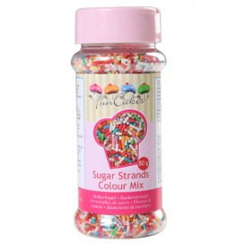 FunCakes sugar strands -colour mix - 80g