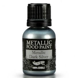 RD Metallic Dark Silver Food Paint - 25ml