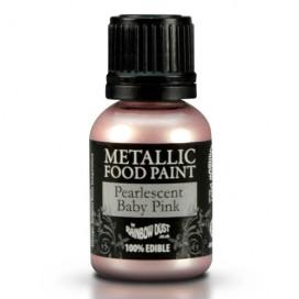 RD Metallic rausvo atspalvio (Pearlescent Baby Pink) dažai - 25ml