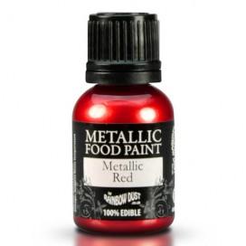 RD Metallic raudoni  dažai - 25ml