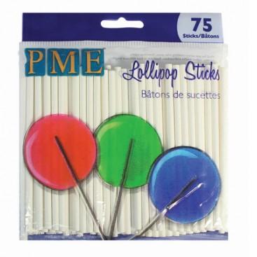 PME 9.5 cm popieriniai pagaliukai cake pop'sams (75vnt)
