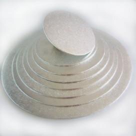 FunCakes sidabrinis padėklas apvalus Ø35cm (4mm)