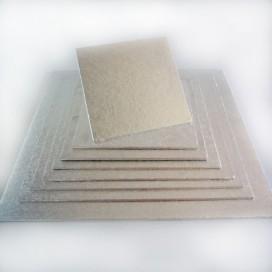 FunCakes sidabrinis padėklas kvadratinis 22,5 x 22,5cm (4mm)
