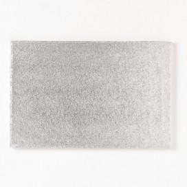 FunCakes sidabrinis padėklas stačiakampis 35 x 25cm (4mm)