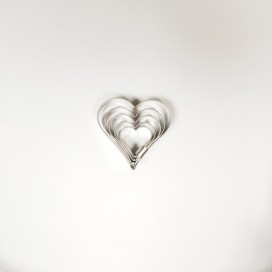 Širdelės sausainių formelė - 5vnt.