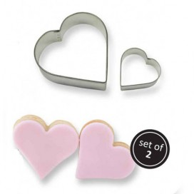 PME širdelių sausainių formelių rinkinys - 2vnt.