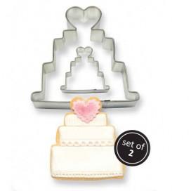 PME vestuvių torto sausainių formelių rinkinys - 2vnt.