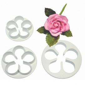 PME 5 žiedlapių gėlės formelių rinkinys - 3vnt.