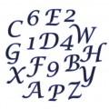 """FMM """"The Old English"""" šrifto raidelių ir skaičių formelių rinkinys"""