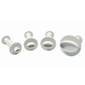 PME Miniature Oval Plunger Cutter set/4