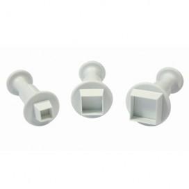 PME Miniature Square Plunger Cutter set/3