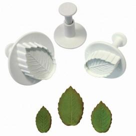 PME rožės lapo formelė su stūmikliu - 3 vnt.
