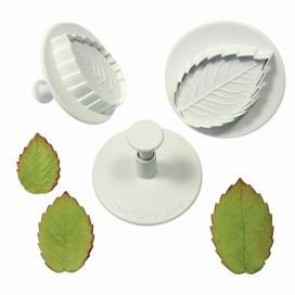 PME Rose leaf plunger cutter set/3 Large size