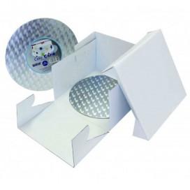 PME tortų dėžė ir apvalus padėklas - 25x25x15 cm