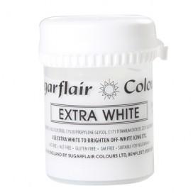 Sugarflair balti koncentruoti geliniai dažai - 42g.